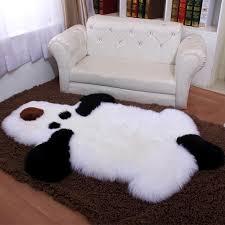 luxury cute dog bear fur carpet soft artificial wool sheepskin fluffy area rugs kids room gy long hair floormat home decor frieze carpet s office