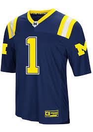 Wolverines Navy Michigan Jersey Foos-ball Colosseum Football Blue Mens