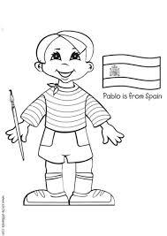 Kleurplaat Pablo Uit Spanje Met Vlag Afb 5642 Images