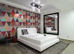 Wallpaper For Living Room Feature Wall Wallpaper Interior Design Interior Wallpaper Colorful Design