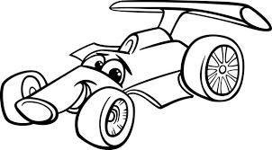 Raceauto Bolide Kleurplaat Vector Premium Download