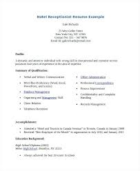 How To Write A Receptionist Resume Resume Sample Receptionist