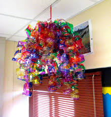 chihuly water bottle chandelier