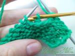 Вязание нить перед петлей