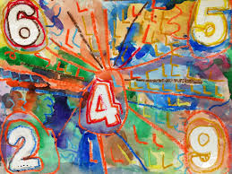 jasper johns is an artist who makes art using symbols that we immediately recognize such as a flags a maps or numbers first graders viewed his number
