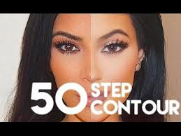 kim kardashian 50 step contouring routine