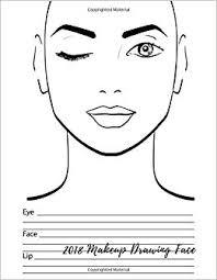 Drawing Chart Amazon Com 2018 Makeup Drawing Face Eye Make Up Chart