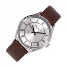 kenneth cole mens watches dive watch connection com kenneth cole new york brown leather strap