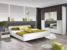 Bett Nachttisch Schrank Kopfteil Spanplatte Weiss Grau Anthrazit
