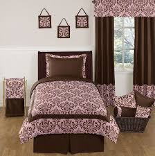 pink and chocolate nicole childrens and teen bedding set 4 pc twin set only 89 99