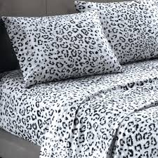 snow white bed set cozy spun snow leopard print sheet set leopard cozy spun  snow leopard . snow white ...