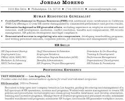 Professional Human Resources Resume Sample Hr Manager Template