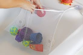 c a z 45 35cm large capacity washable mold free bath bathtub toy organizer hanging storage net