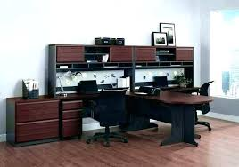 home office with two desks.  Home Awesome Two Person Office Desks D0753023 Stylish Decoration Home  Furniture Desk  With Home Office Two Desks