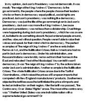 andrew jackson s democratic presidency at com essay on andrew jackson s democratic presidency