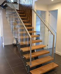 steel glass stairs