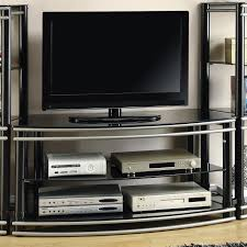 black metal tv stand  stealasofa furniture outlet los angeles ca