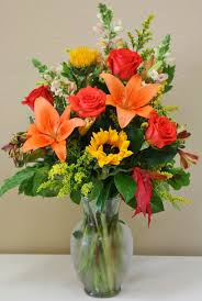 arrangement of fall flowers made by your local riverside ca florist willow branch florist of