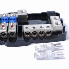 fuse box car audio wiring library multi functional led car audio stereo mini anl fuse box 4 way fuse block