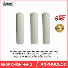 Combo 3 lõi lọc nước sứ Ceramic Đại Việt sản xuất sử dụng cho máy lọc nước  Daikiosan & Makano