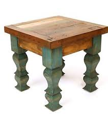 image is loading rustic end table turquoise mexican 18x18x17 furniture primitive