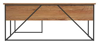 geometric l shaped desk 30 x 72 x 30h lightly toasted metal front