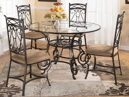 awesome metal glass top dining table decor chetareproject for stylish household round glass top dining table metal base ideas