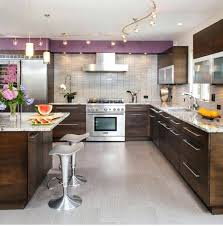 kitchen led track lighting. White Track Lighting Kitchen With Modern Furniture And Led Exposure T