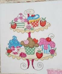 Details About Cupcake Sampler 4 Cupcake Motifs Cross Stitch Chart By Lucie Heaton B15