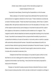 haunted house essay examining the superstition on the  haunted house essay examining the superstition on the houses