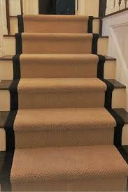 Carpet Stair Runner with Wide Black Border.