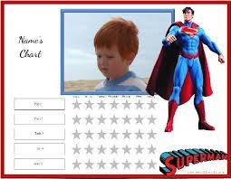 Superman Reward Chart Reward Chart Chart Printable