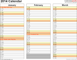 calendar template month 2014 calendar 13 free printable word calendar templates