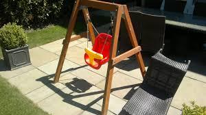 plum wooden baby swing set installation childrens playset