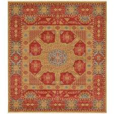 palace monroe red 10 0 x 11 4 square rug