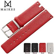 <b>MAIKES New</b> Hot Sales Genuine Calf Leather Watch Band Strap ...
