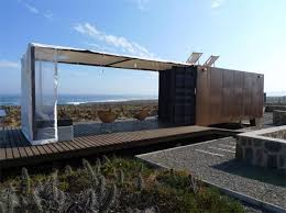 Beach Refuge: recycled containers with ocean views
