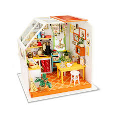 diy dollhouse furniture. SUN \u0026 CLOUD 1 Set Dollhouse Furniture 1:12 3D Puzzle DIY Miniature Moveis De Brinquedo Doll Table Kitchen For Girls-in Dolls Accessories From Toys Diy