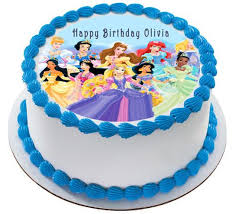 Disney Princess Edible Birthday Cake And Cupcake Topper Edible