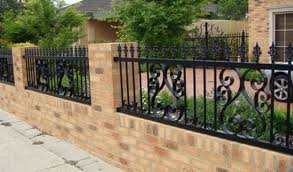 metal fence design. Wrought Iron Fencing Metal Fence Design