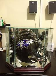 full size fs football helmet glass display case nfl with mirrors free
