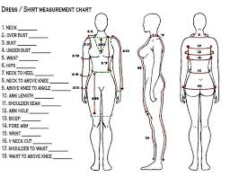 Blank Body Measurement Template 24 Sewing Patterns Body