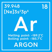 Argon. Noble Gases. Chemical Element Of Mendeleev& X27;s Periodic ...