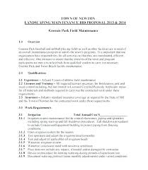 Landscaping Contracts Landscaping Contract Template Maintenance