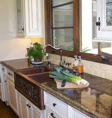 white traditional kitchen copper. Traditional Kitchen. Copper Farmhouse Sink Close Up White Kitchen