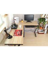 home office computer workstation. Interesting Home Folding LShape Corner Home Office Computer Desk With Pullout Keyboard  Shelf Panel Intended Workstation