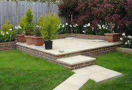 small raised patio area in rear garden landscaping45 patio