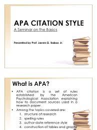 Apa Citation Citation Academia