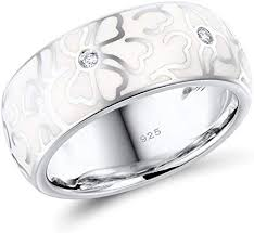 Santuzza 925 Sterling Silver Handmade Enamel <b>Flower</b> Ring ...