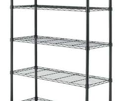 wire shelving black professional fullsize of casters wall mounted wire shelving units